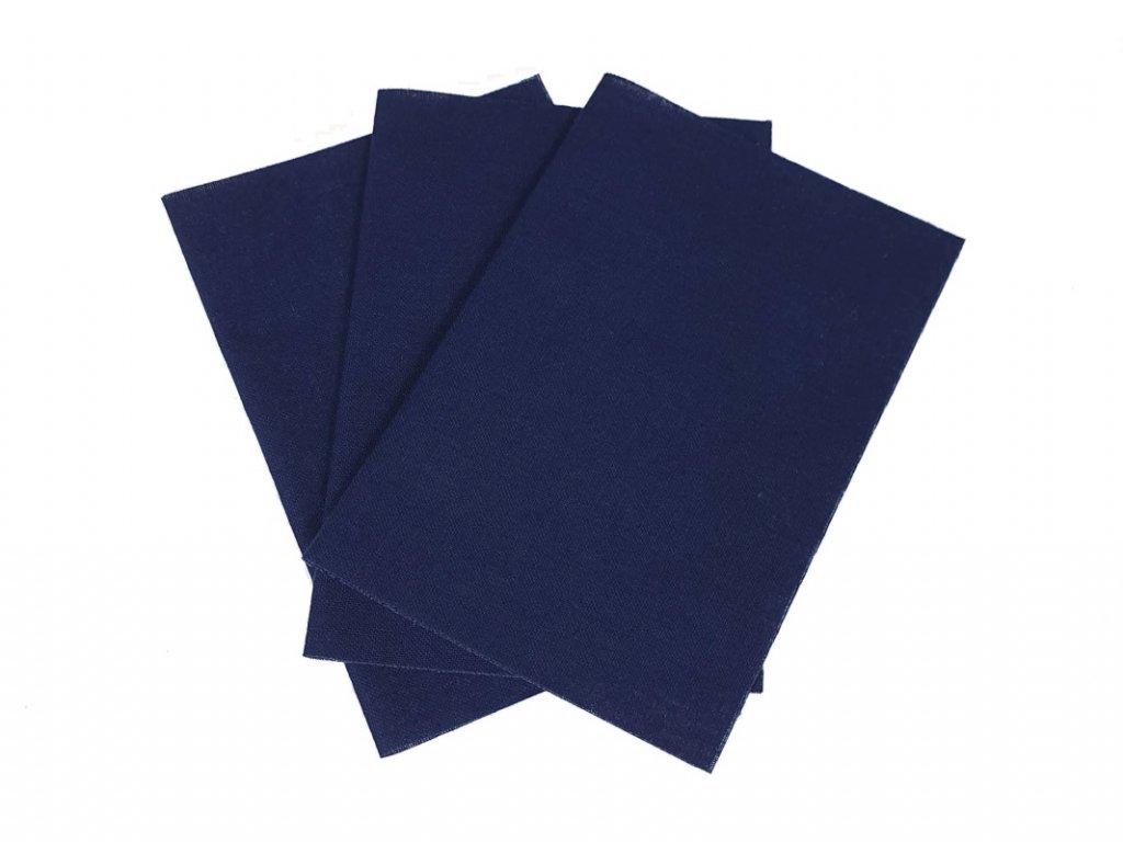 Zažehlovací záplaty plátno - modrá královská