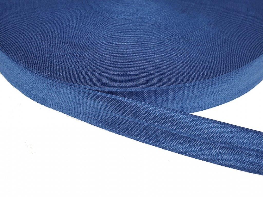 Pruženka lemovací šíře 20 mm - modrá střední