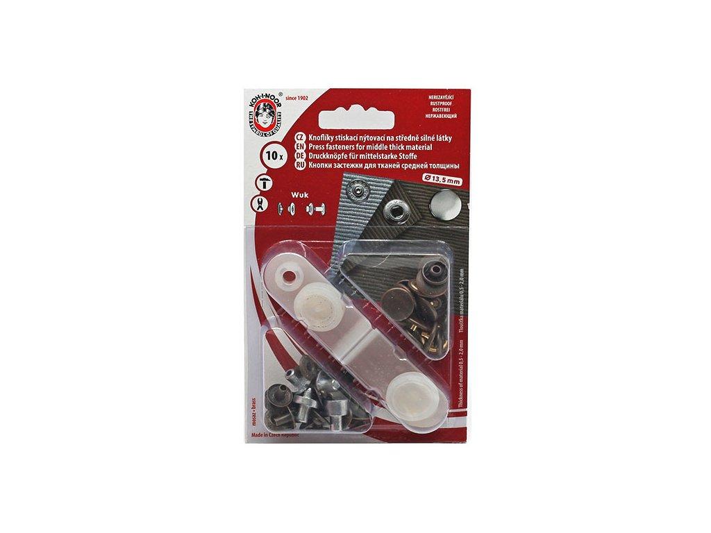 Knoflíky nýtovací / druky WUK průměr 15 mm - staromosaz