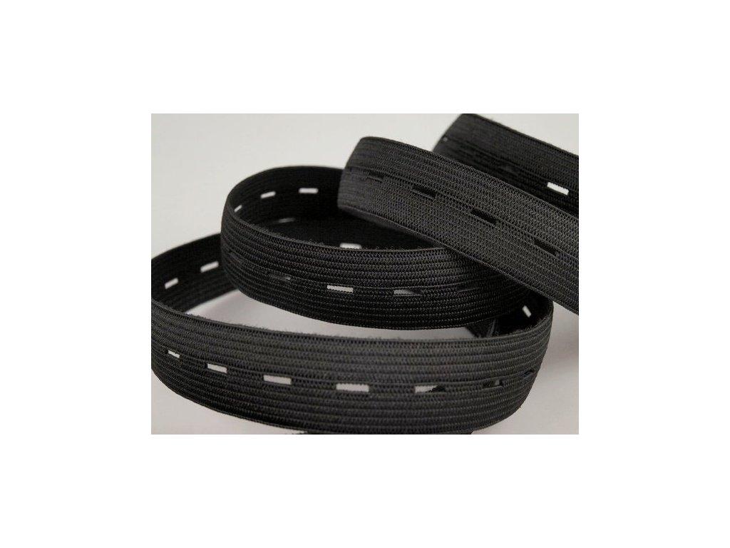 Pruženka dírková šíře 20 mm - černá