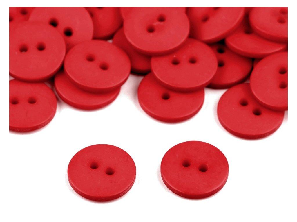 """Knoflík plastový 24"""" - červená"""