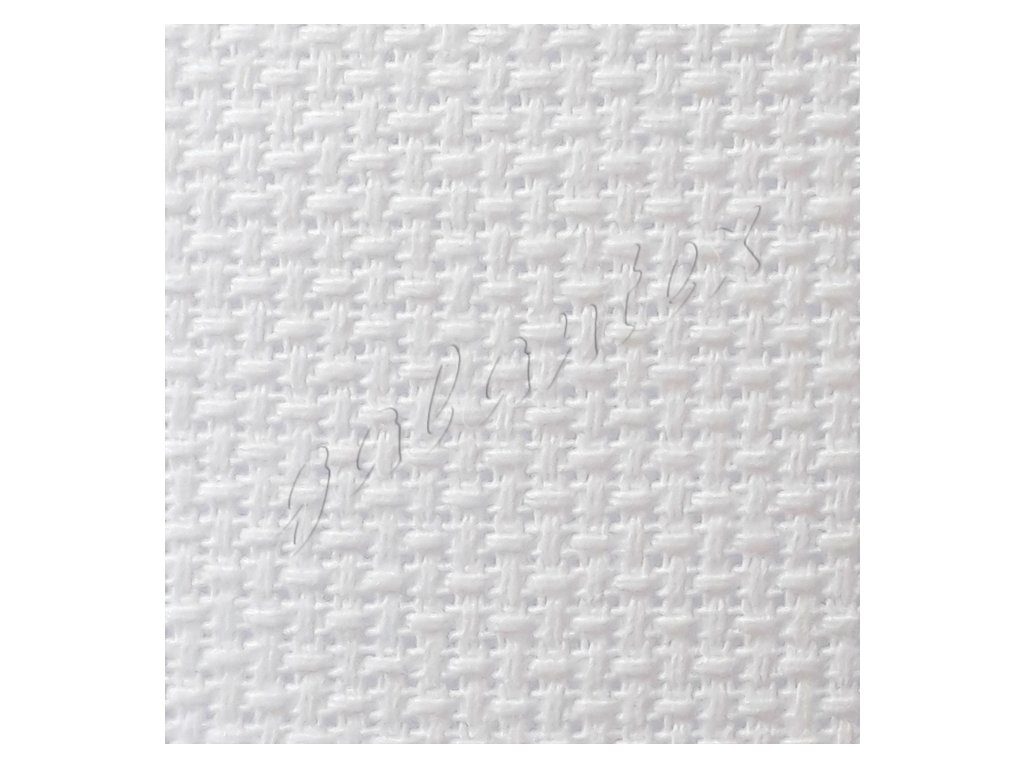 Vyšívací tkanina AIDA 14ct - bílá
