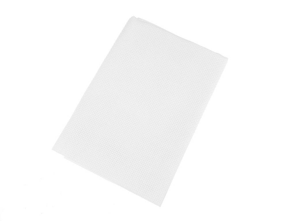 Vyšívací tkanina Kanava 7 / 50x70 cm - bílá