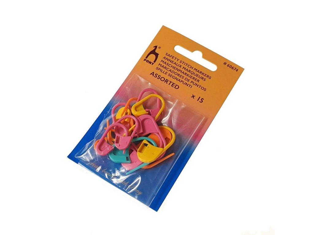 Plastové spínací špendlíky / značkovače (15 kusů)