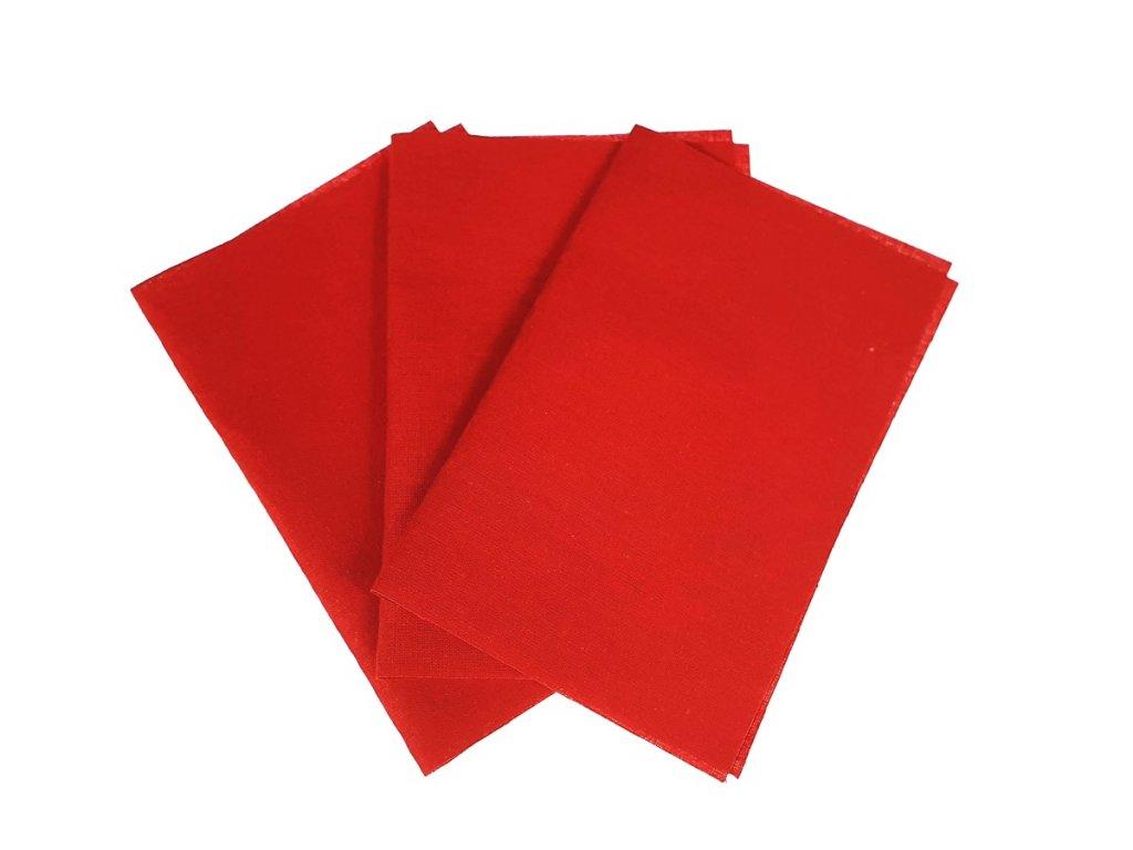 Zažehlovací záplaty plátno - červená