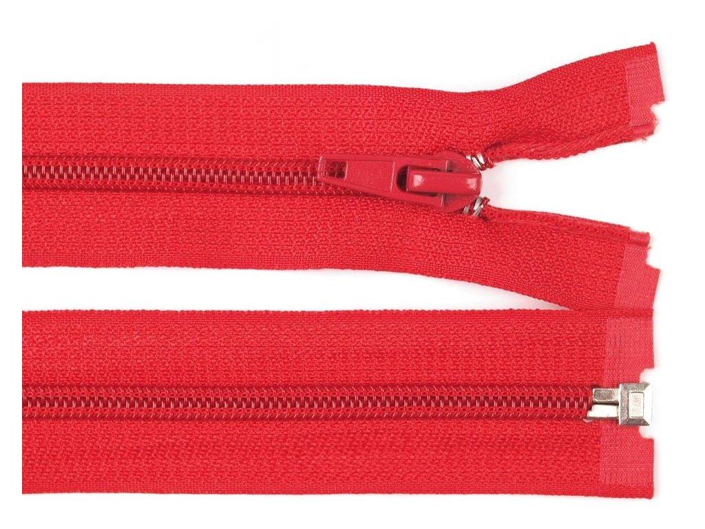 Zip spirálový dělitelný 5 mm / 55 cm - červený