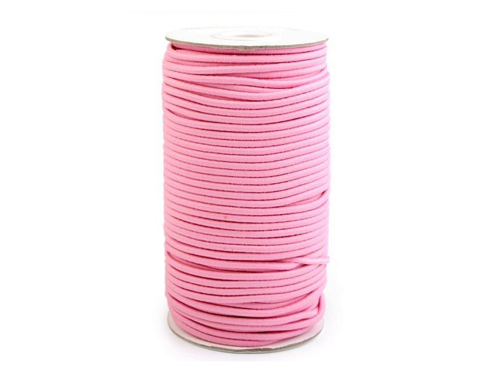 Klobouková guma 3 mm - růžová