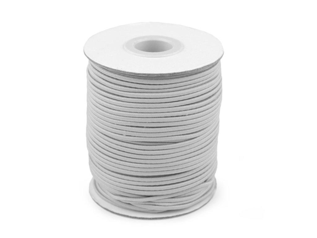 Klobouková guma 3 mm - šedá světlá