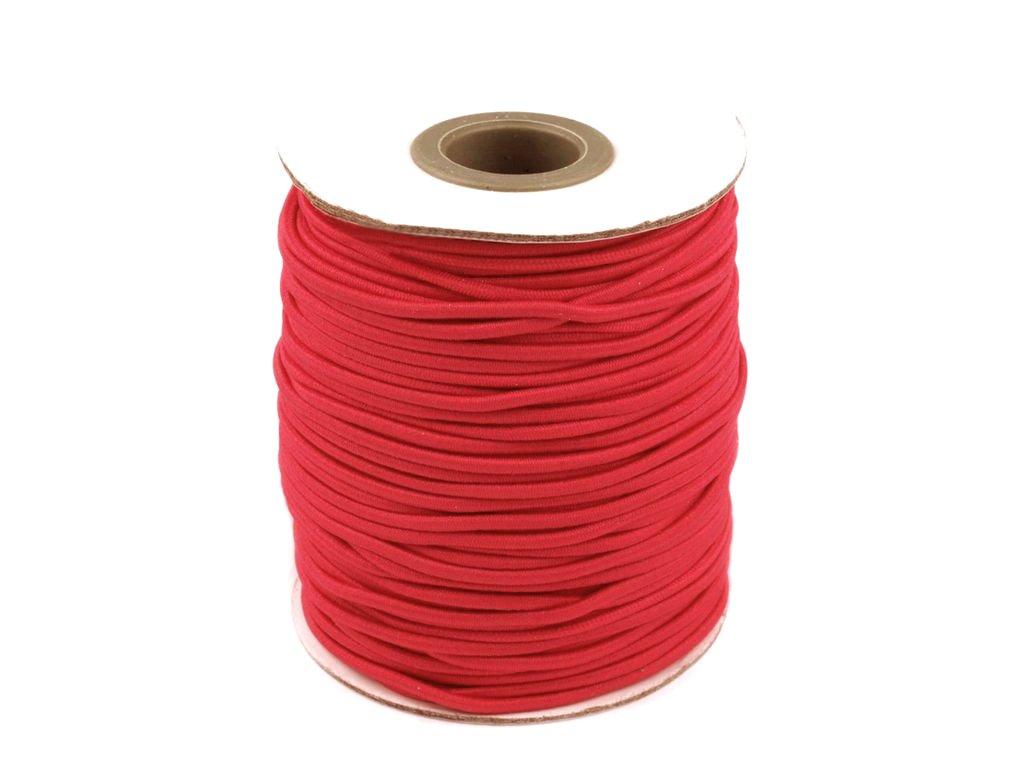 Klobouková guma 3 mm - červená