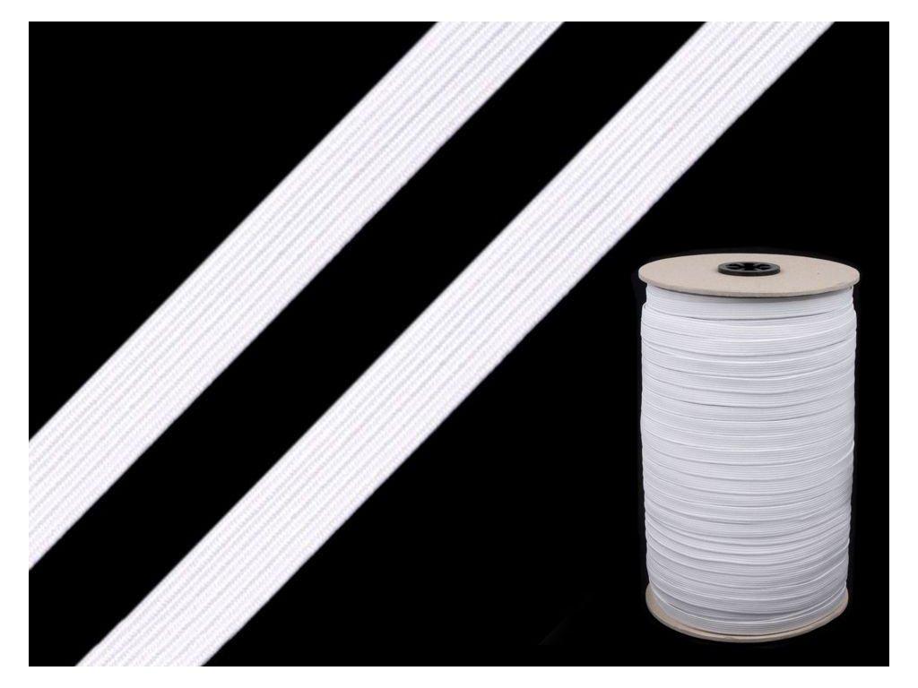 Pruženka prádlová 15 mm - bílá