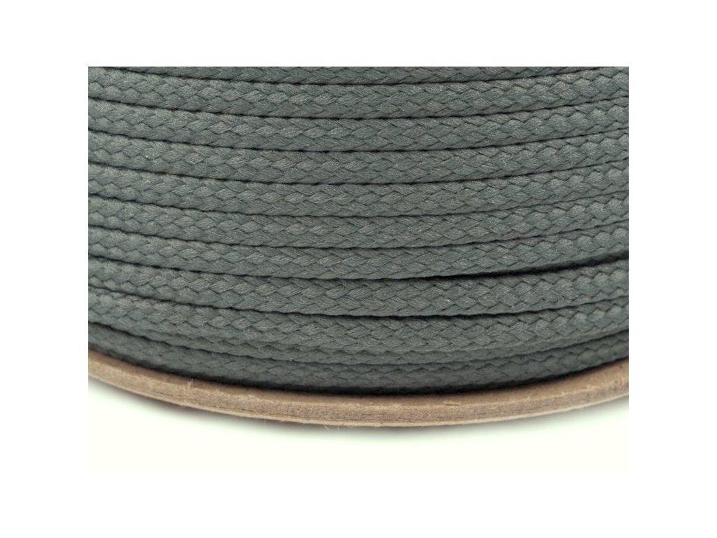 Oděvní šňůra PES 4 mm - šedá