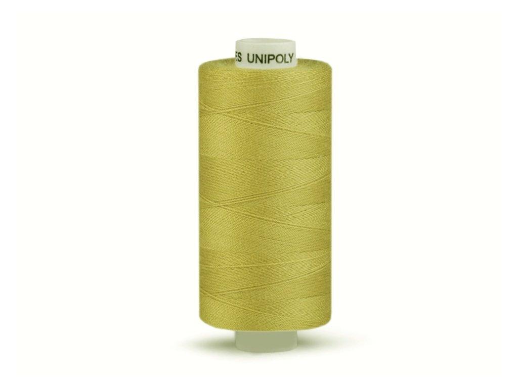 Šicí nit Unipoly 120 návin 500 m / 765 - světle hořčicová
