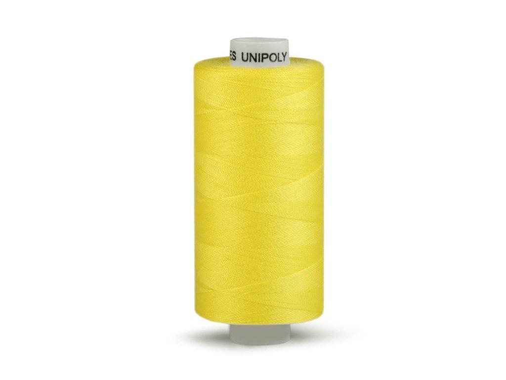 Šicí nit Unipoly 120 návin 500 m / 164 - žlutá