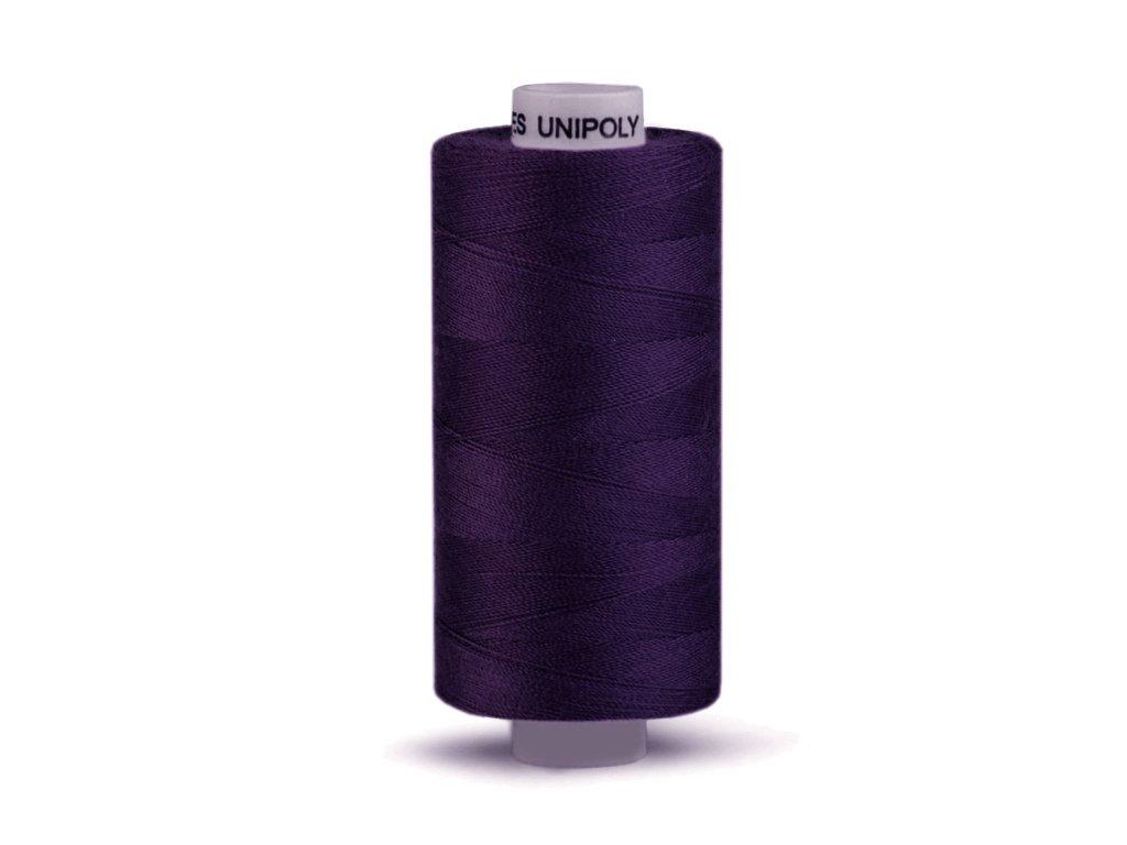 Šicí nit Unipoly 120 návin 500 m / 449 - temně fialová