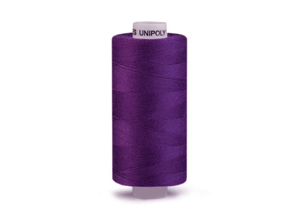 Šicí nit Unipoly 120 návin 500 m / 458 - tmavě fialová