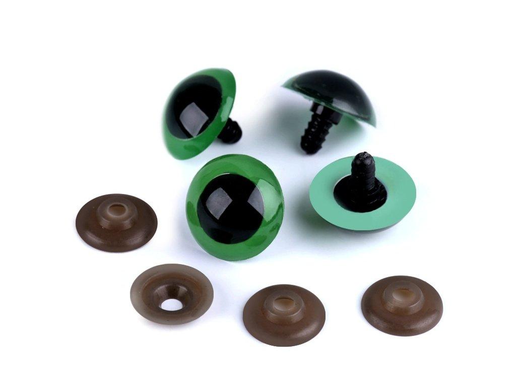 Bezpečnostní oči 26 mm (1 pár) - zelené