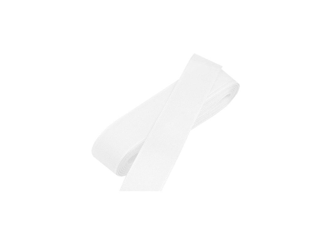 Taftová stuha - šířka 25 mm x 10 m / 100 - bílá