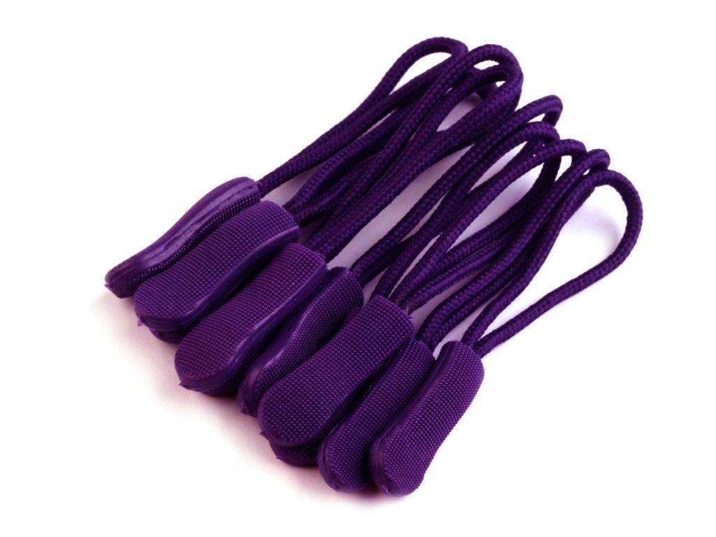 Poutko / taháček na zip - fialová