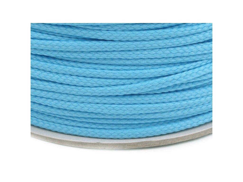 Oděvní šňůra PES 4 mm - modrá pomněnková