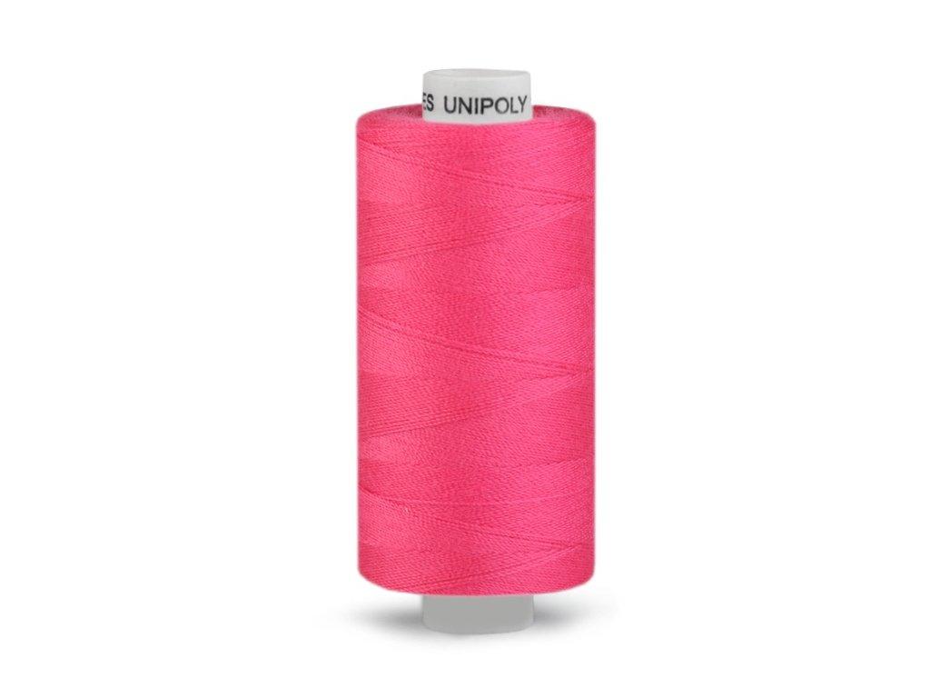 Šicí nit Unipoly 120 návin 500 m / 3454 - Barbie růžová