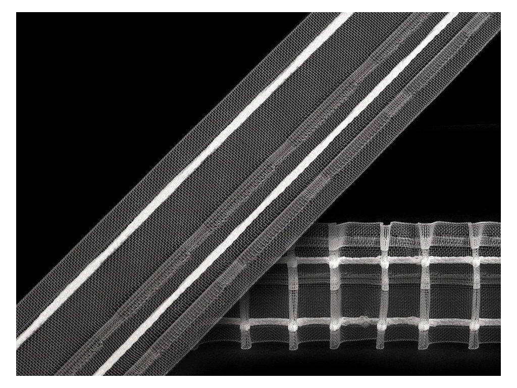 Záclonovka 50 mm tužkové řasení transparentní