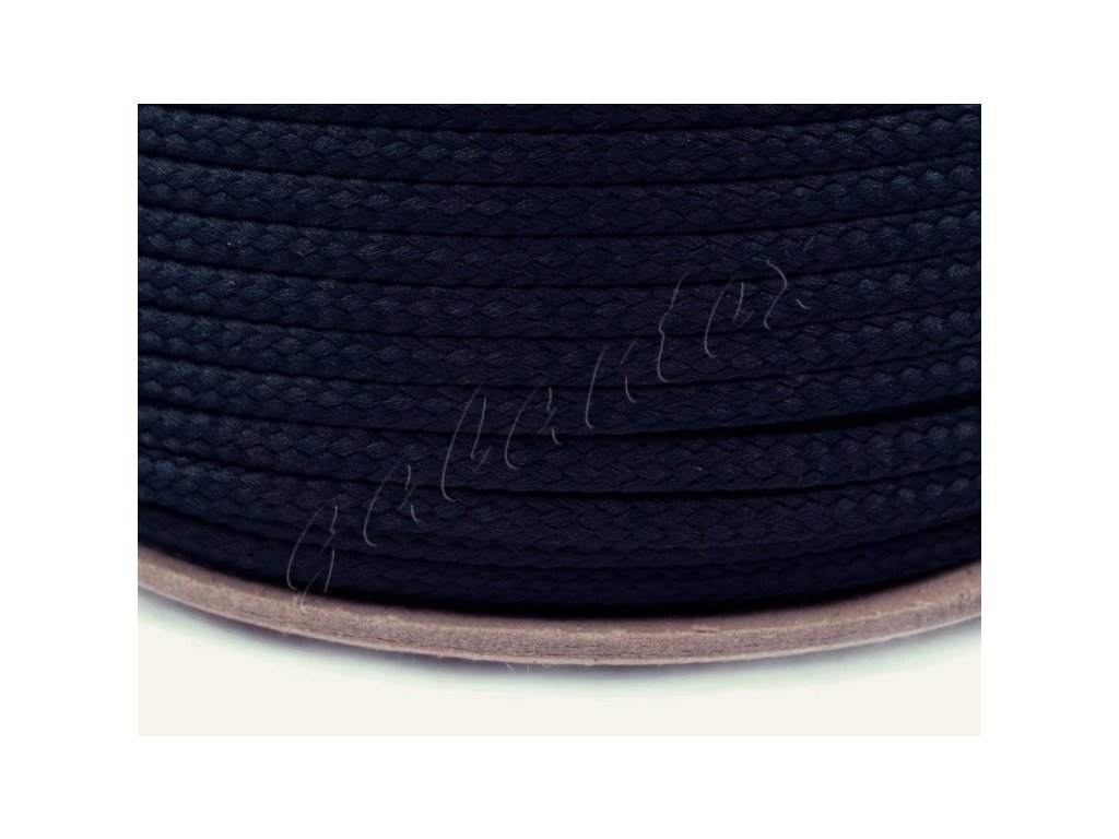 Oděvní šňůra PES 4 mm - tmavě námořnická