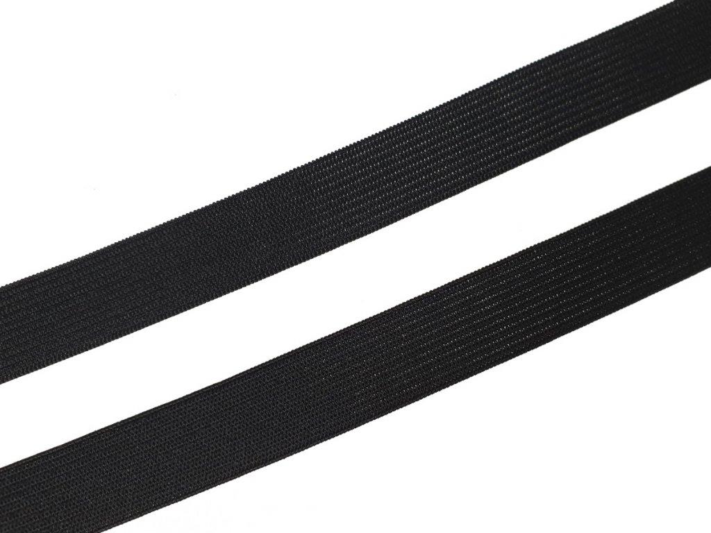 Pruženka plochá pletená 18 mm - černá