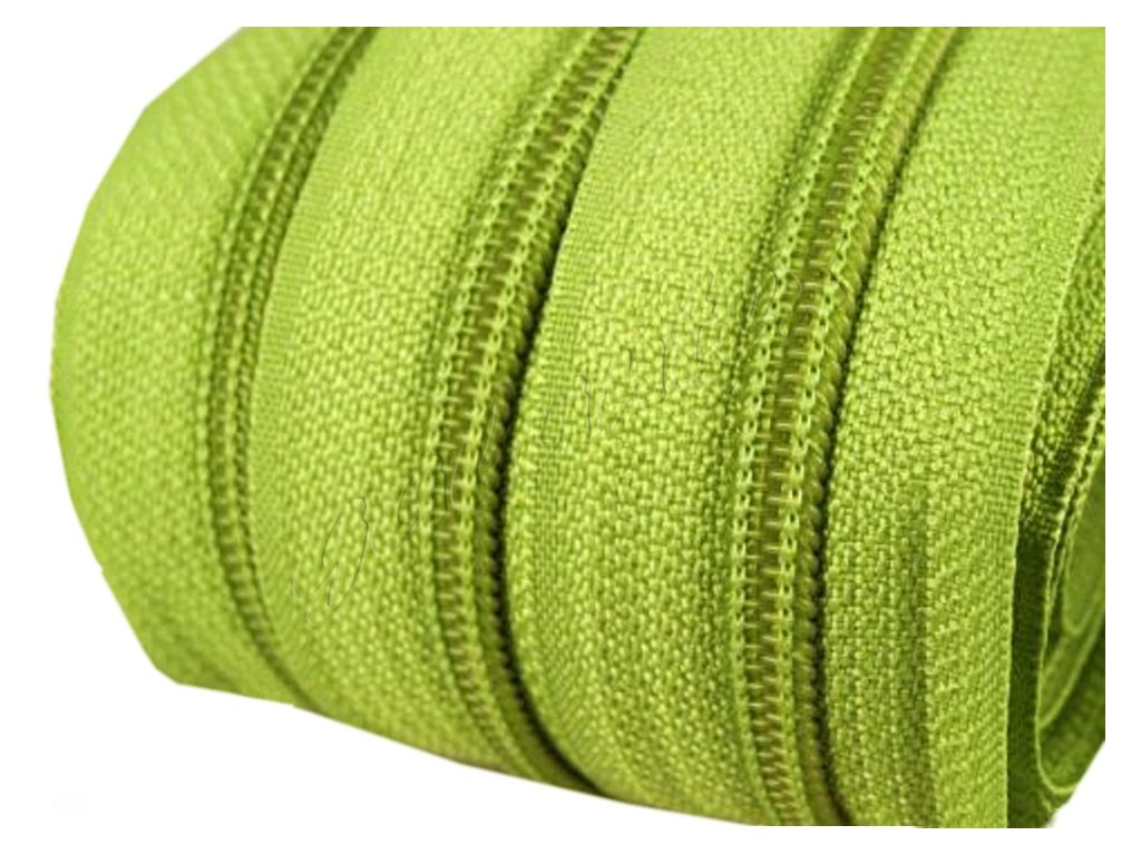 Zip spirálový 5 mm metráž - zelená lime
