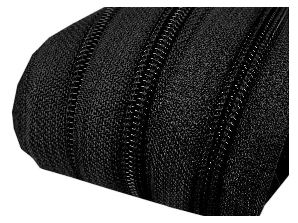 Zip spirálový 5 mm metráž - černá