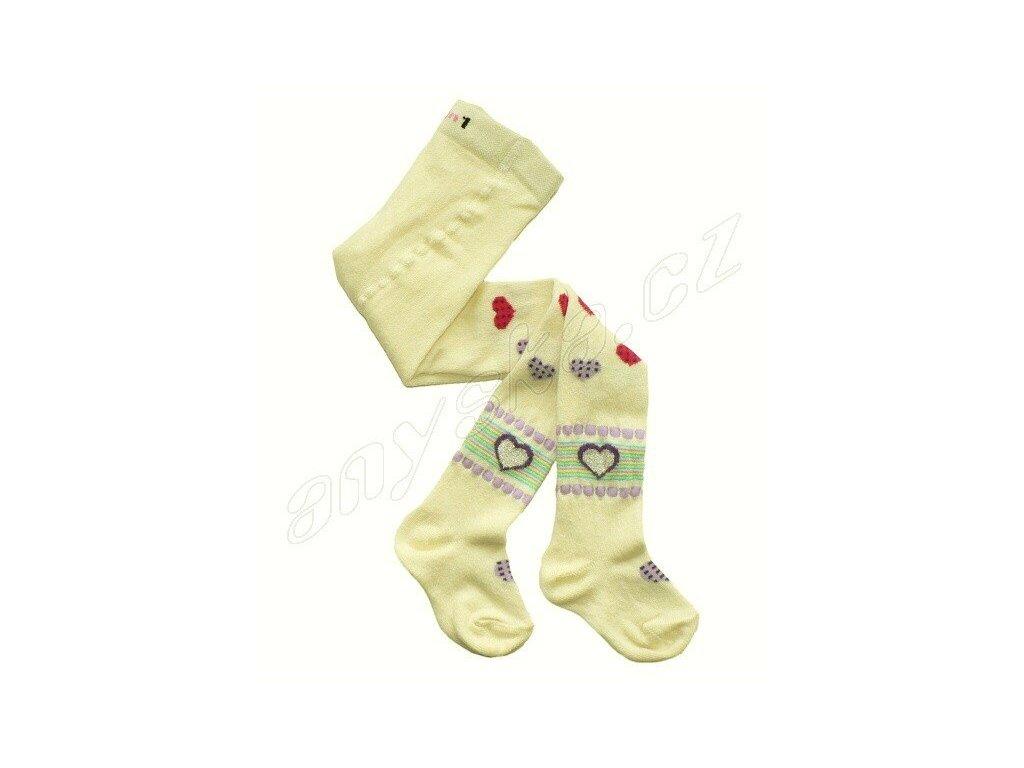 Dětské punčocháče s vůní srdíčka - smetanové