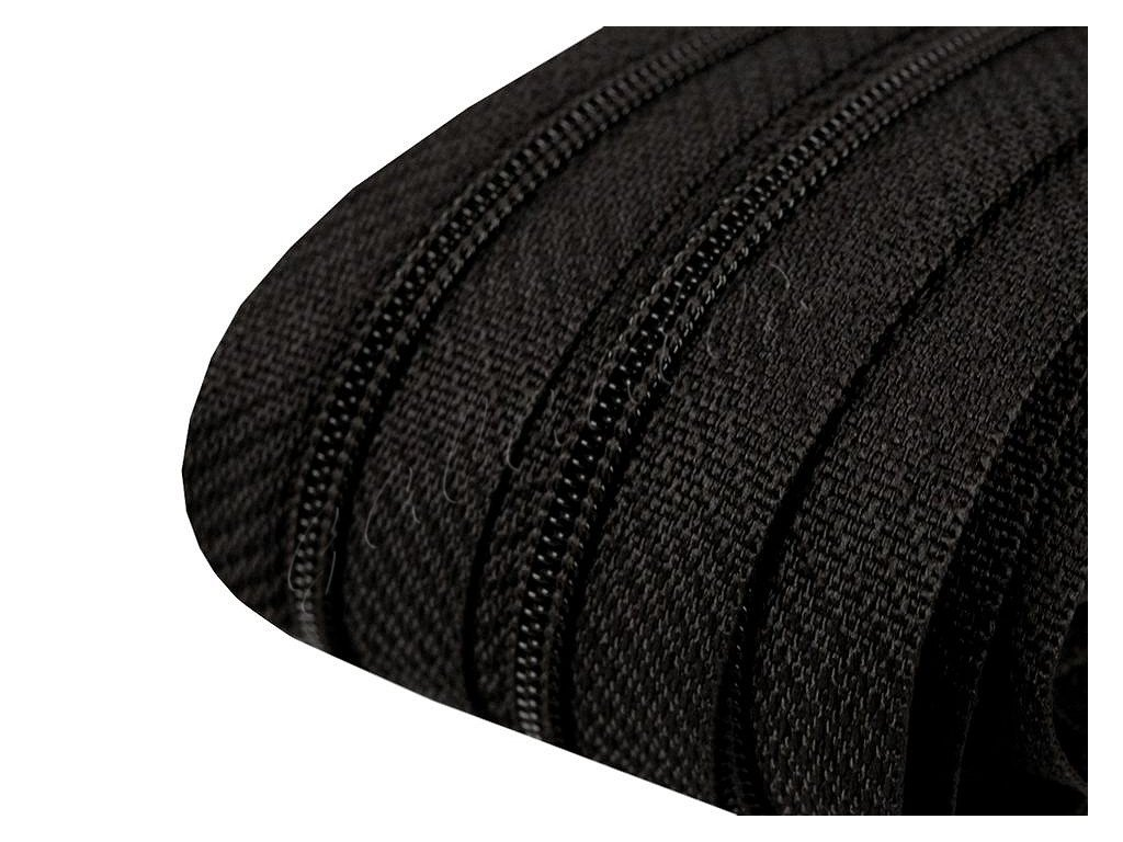 Zip spirálový 3 mm metráž - černý