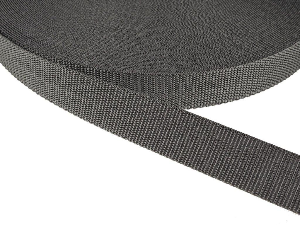 Popruh polypropylénový šíře 30 mm - šedá tmavá