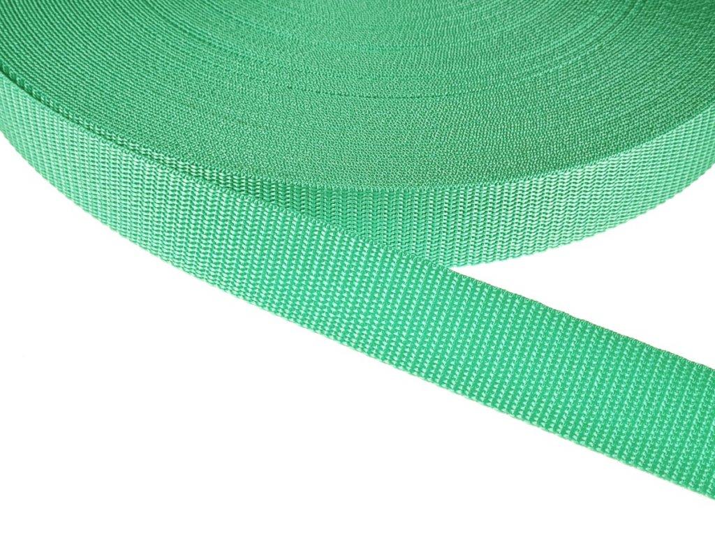 Popruh polypropylénový šíře 30 mm - zelená mátová