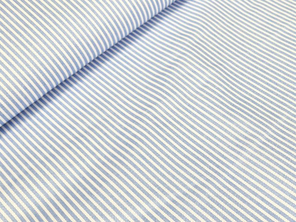 Bavlněné plátno - Proužky na krémově bílé