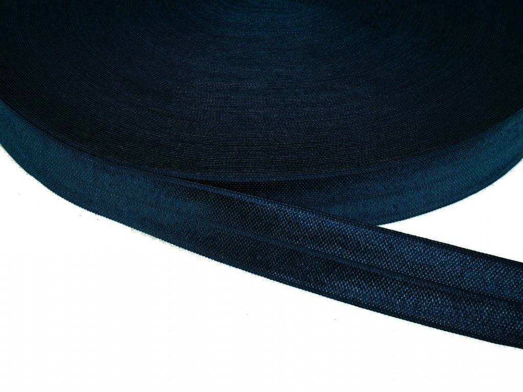 Pruženka lemovací šíře 20 mm - modrá námořnická
