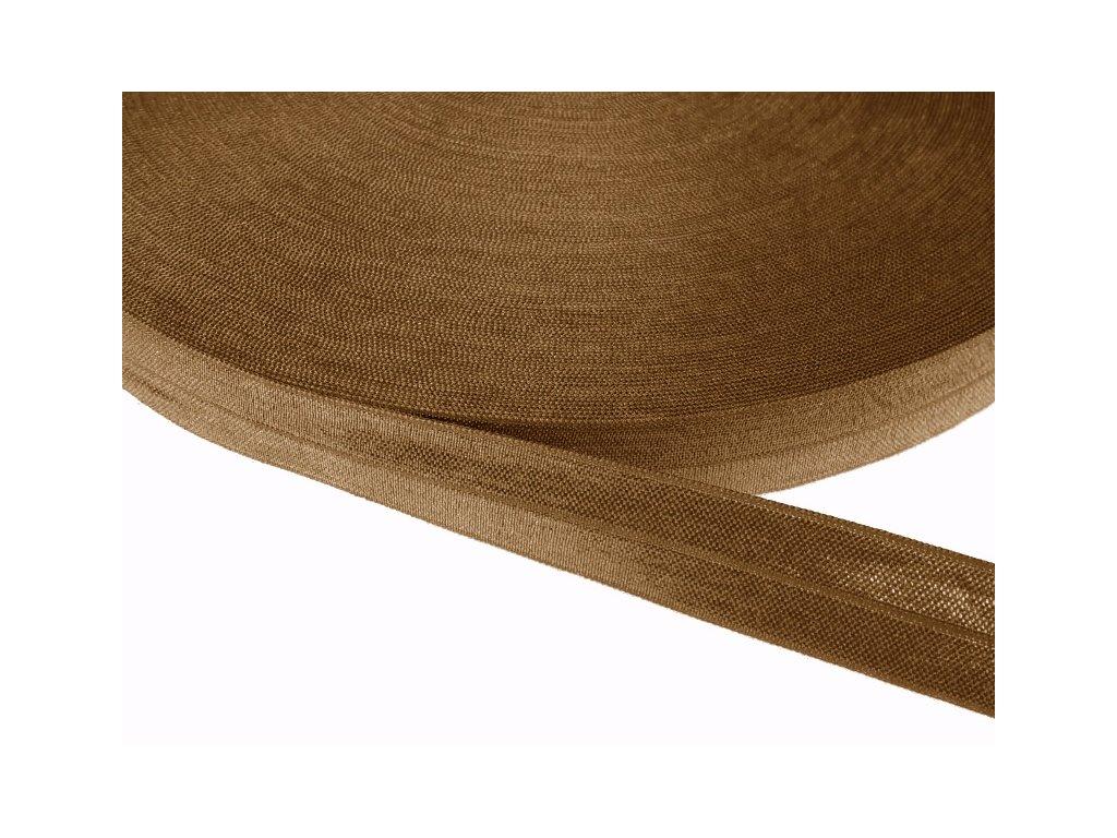 Pruženka lemovací šíře 20 mm - hnědá oříšková