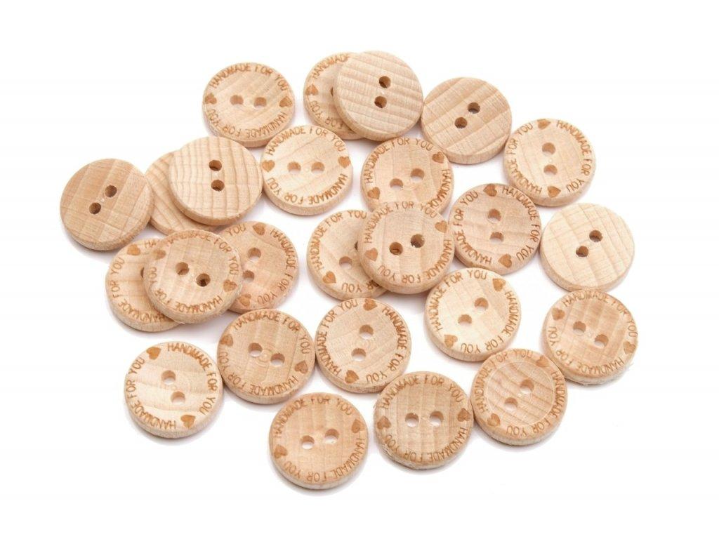 knoflik dreveny handmade 9001 for you vel 24 15 2mm