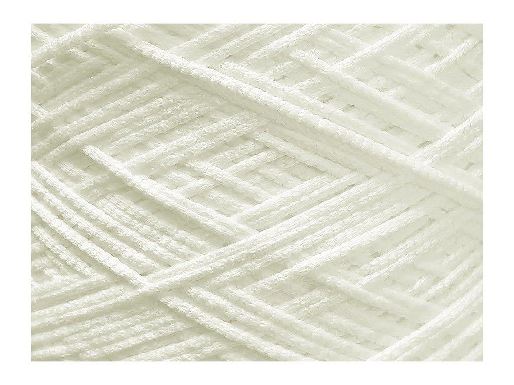 Kulatá pruženka do roušek 3 mm - bílá