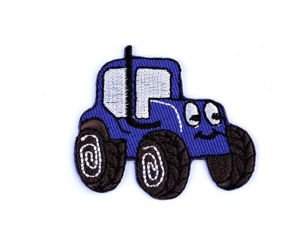 Nažehlovací aplikace - Traktor modrý