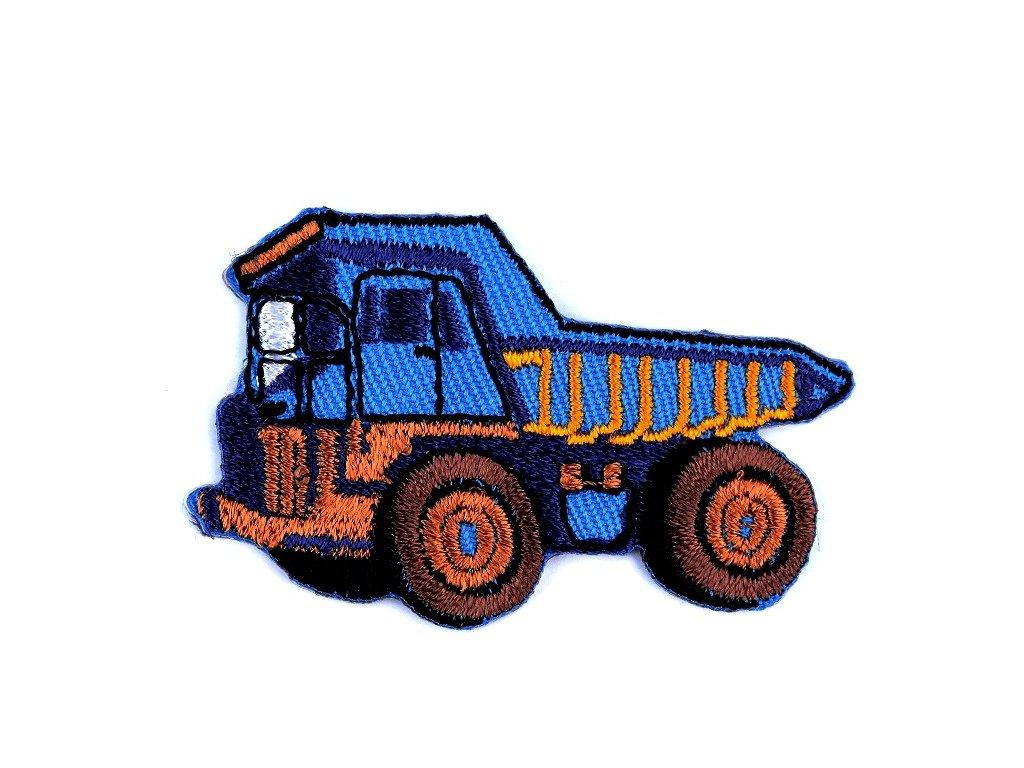 Nažehlovací aplikace - Nákladní auto modré