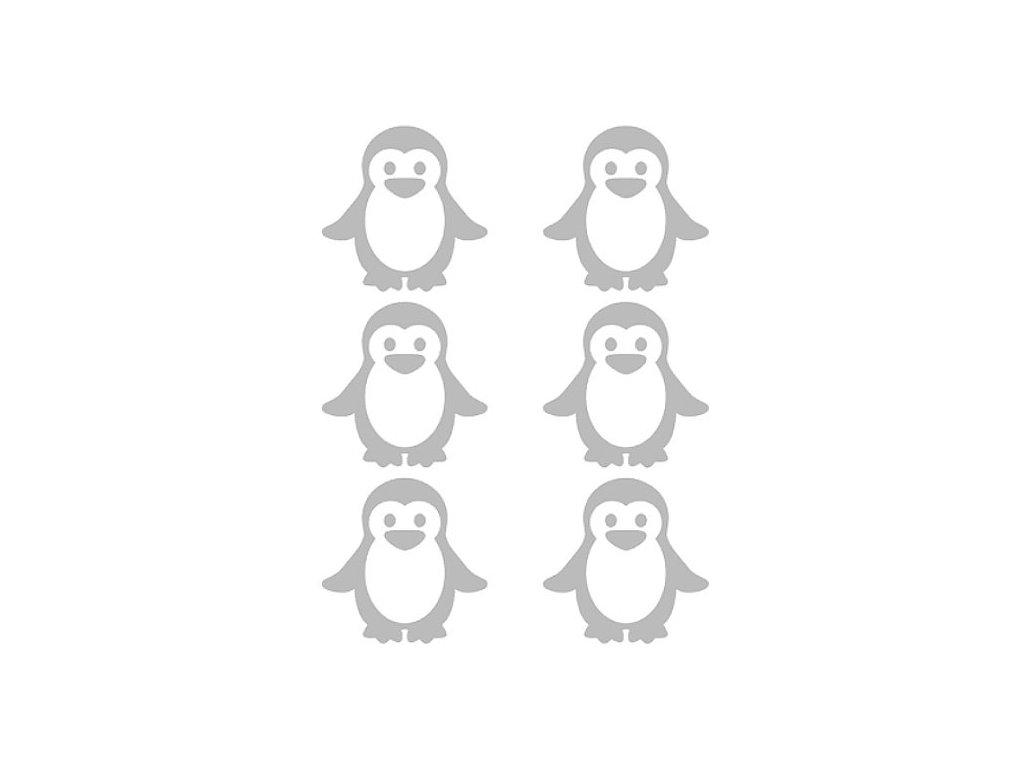 Reflexní nažehlovací potisk - tučňáci (6 kusů)