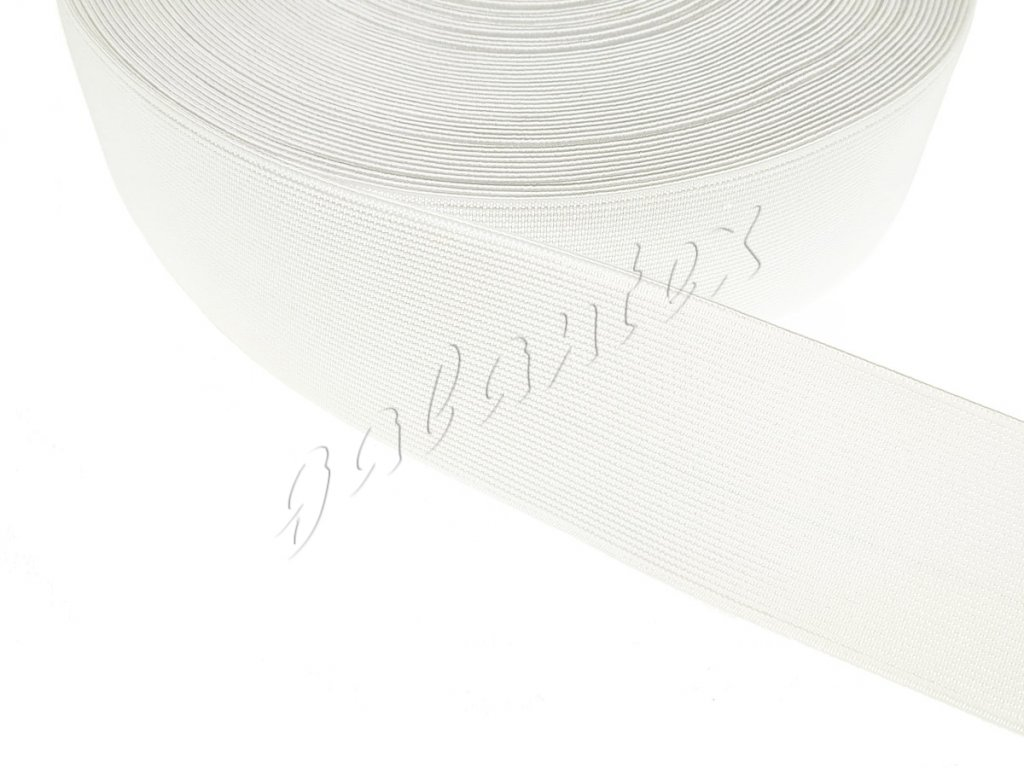 Pruženka plochá 50 mm - bílá