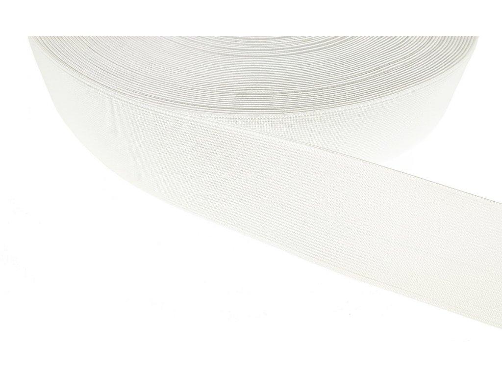 Pruženka plochá 40 mm - bílá