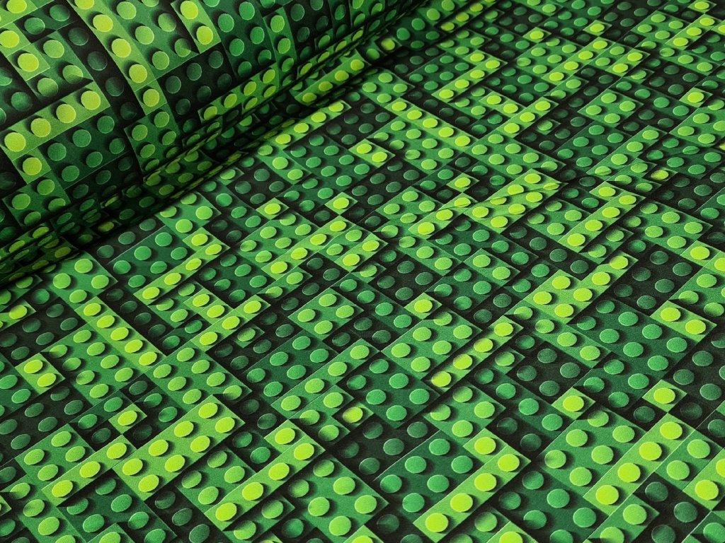 Softshell zimní - Stavebnice zelená