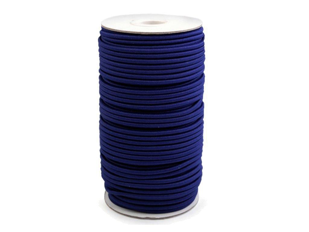 Klobouková guma 3 mm - modrá tmavá