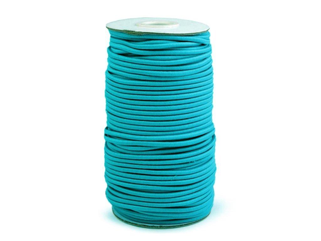 Klobouková guma 3 mm - tyrkysovomodrá