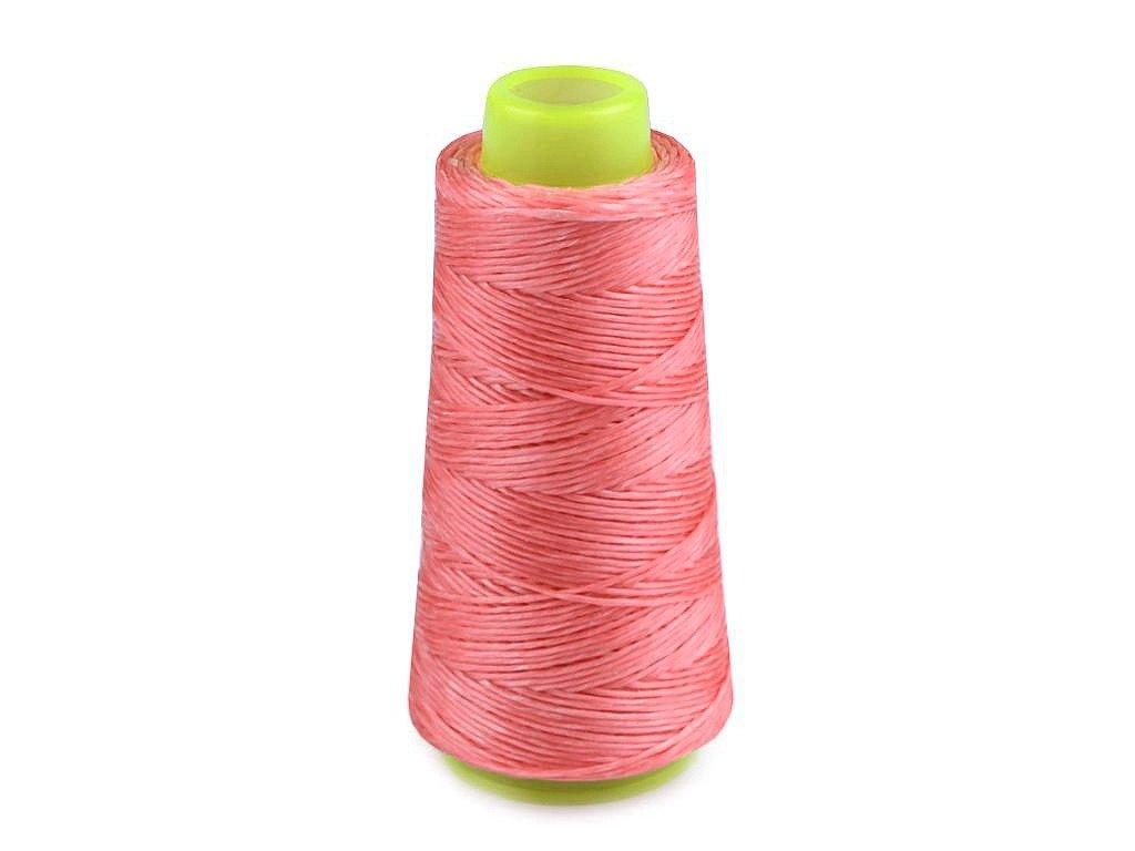 Voskovaná polyesterová nit 1 mm (100m) - růžová