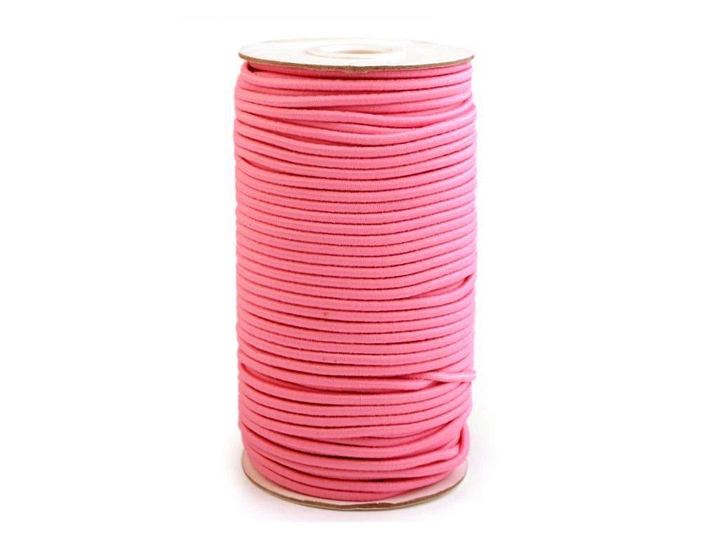 Klobouková guma 3 mm - růžová tmavá