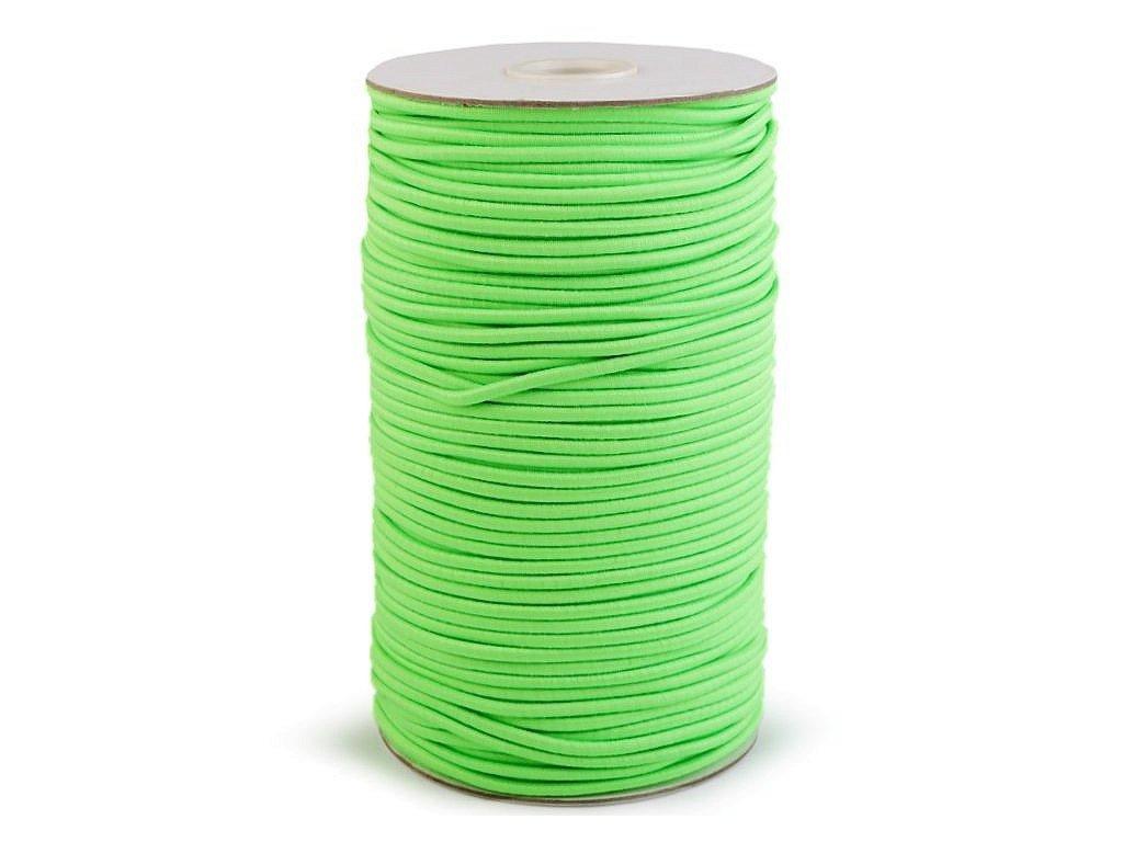Klobouková guma 3 mm - zelená světlá