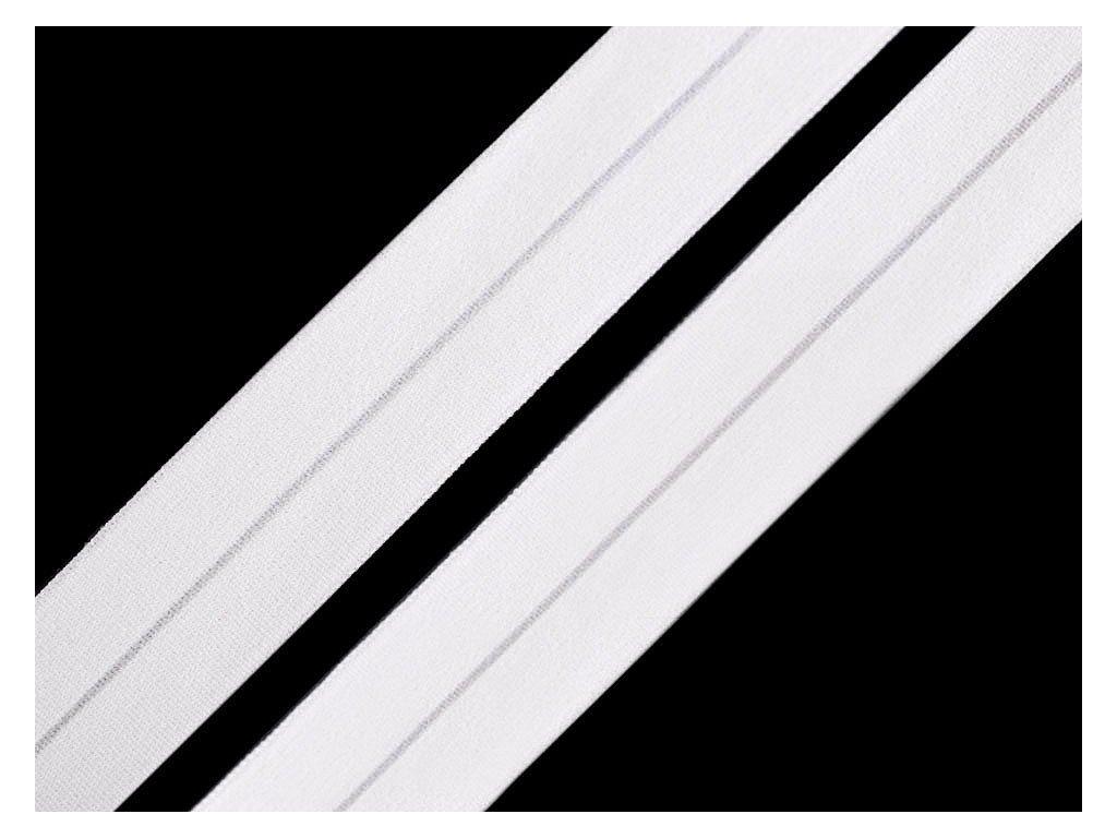 Pruženka lemovací matná šíře 20 mm - krémově bílá
